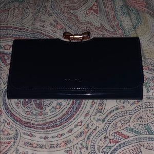 Ted Baker Navy Patent Leather wallet